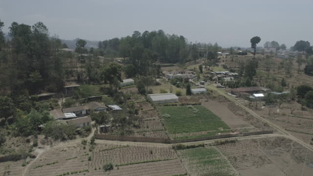 vídeos y material grabado en eventos de stock de drone footage of small guatemalan farm - oficio agrícola