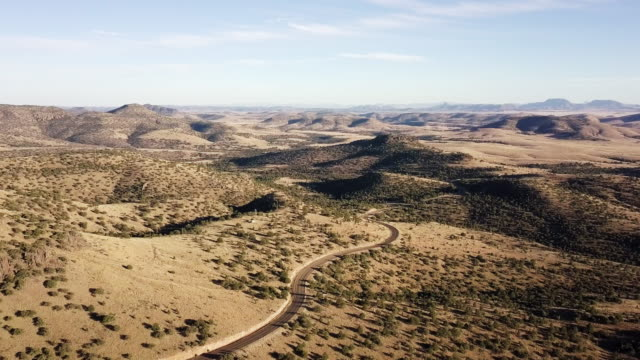 Drone footage Of The Davis Mountains In West Texas