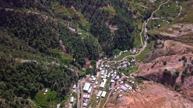 drone footage of the remote village of corareachi, chihuahua, mexico in the copper canyon region - indigenous north american culture stock videos & royalty-free footage