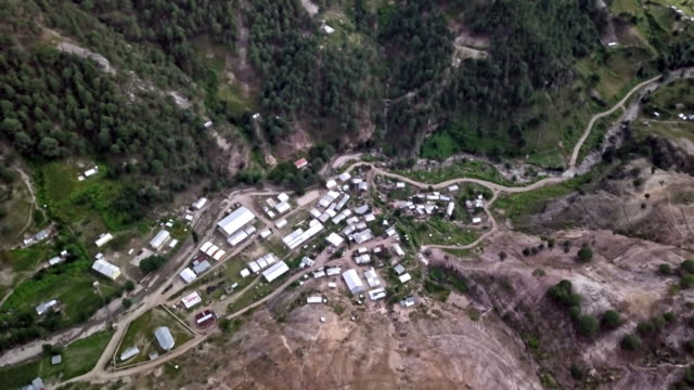 drone footage of the remote village of corareachi, chihuahua, mexico in the copper canyon region - mountain range stock videos & royalty-free footage