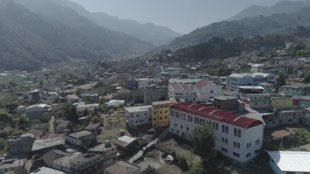 Drone footage of Todos Santon, Guatemala