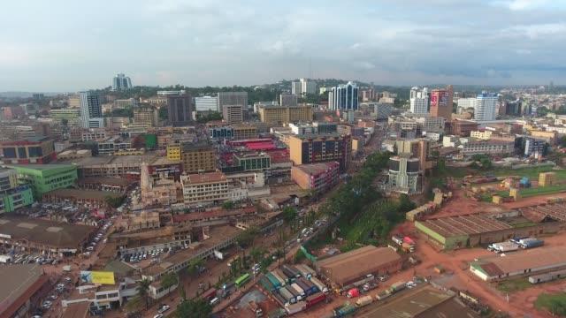 drone footage over kampala, uganda - kampala stock videos & royalty-free footage