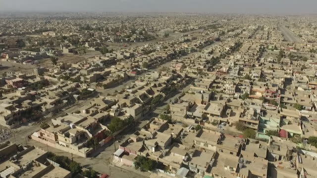 drone footage over mosul as fighting takes place between iraqi government forces and islamic state militants - iraq stock videos & royalty-free footage