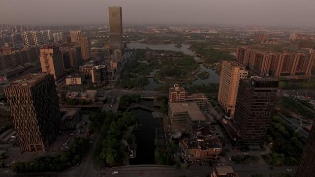4k drone footage : residential areas in shanghai - non urban scene stock-videos und b-roll-filmmaterial
