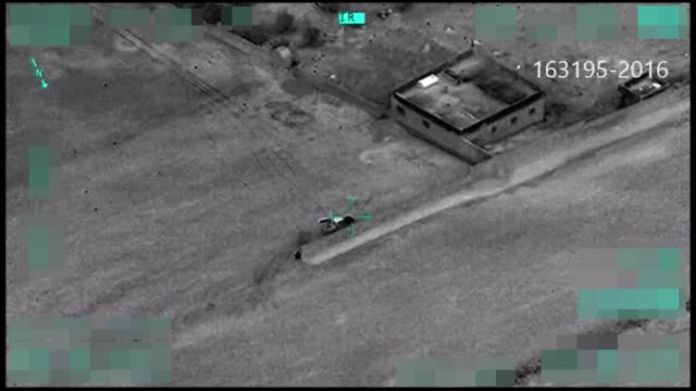 drone footages shows that turkish forces destroys daesh targets in al-bab to freed al-bab as a part of operation euphrates shield in al-bab, syria on... - isis stock-videos und b-roll-filmmaterial