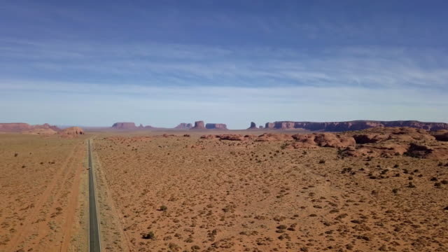 drone image of the arizona desert near monument valley - named wilderness area stock videos & royalty-free footage