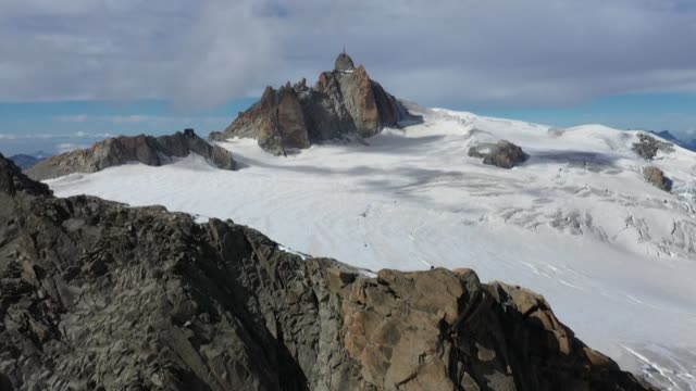 drone images off france's montblanc - mont blanc stock videos & royalty-free footage