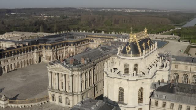 FRA: France's Chateau de Versailles: flyover of the newly-restored Royal Chapel
