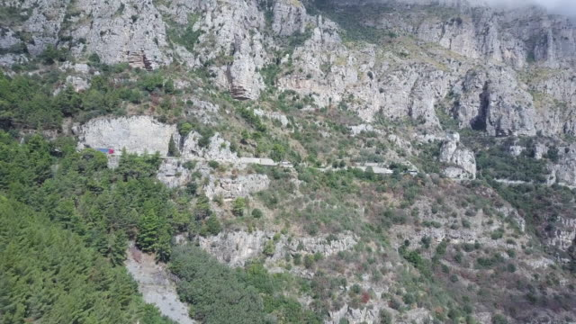 drone over amalfi coast mountains and cliffs - shrubland stock videos & royalty-free footage