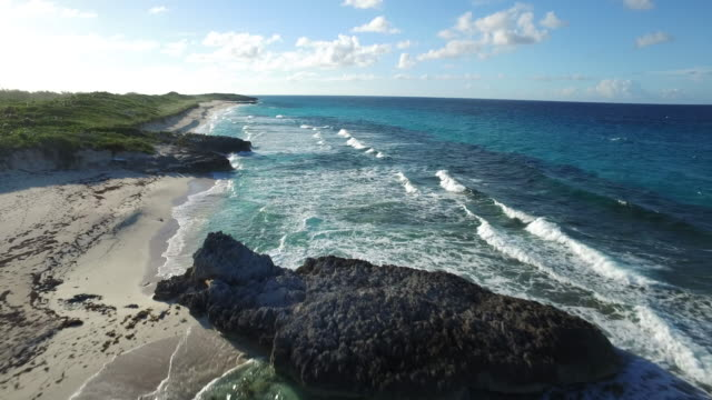 drone over exuma - bahamas stock videos & royalty-free footage