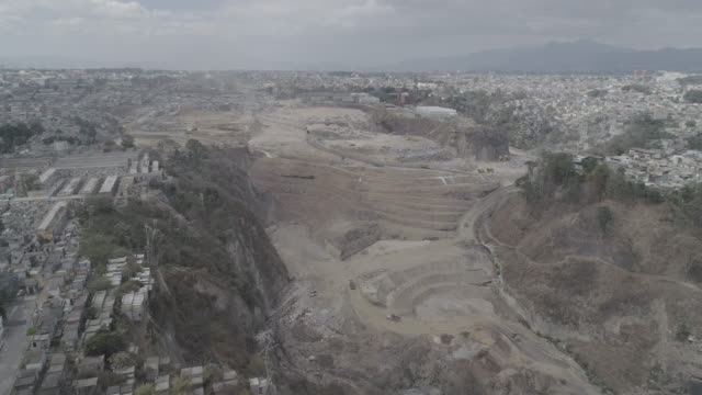 drone over guatemalan dump - guatemala stock videos & royalty-free footage