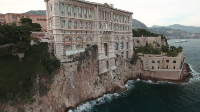 Drone, over Monaco city Harbor and bay.