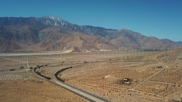 drone palm springs, ca wind turbines - palm springs california stock videos & royalty-free footage