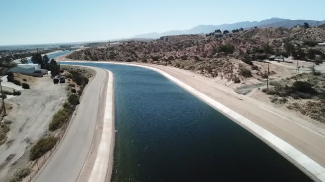 ktla drone pov palmdale aquaduct - palmdale stock videos and b-roll footage