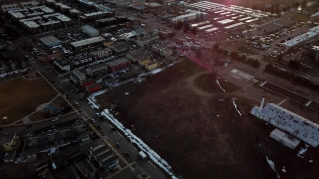 a drone pans up over boulder colorado - boulder stock videos & royalty-free footage