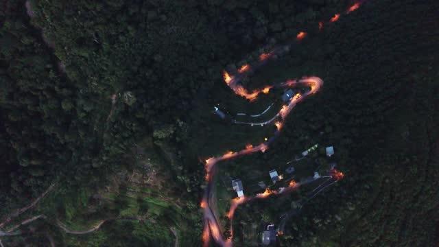drone point of view kuala kubu rural scene - directly below stock videos & royalty-free footage