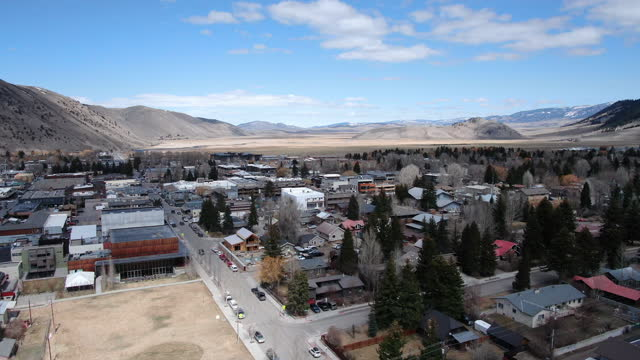 drone point of view of jackson wyoming - wyoming stock videos & royalty-free footage