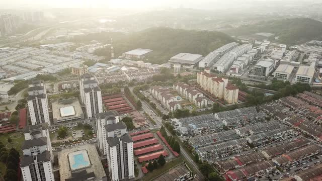drone point of view of residential buildings in kepong, kuala lumpur , malaysia directly above - housing development stock videos & royalty-free footage