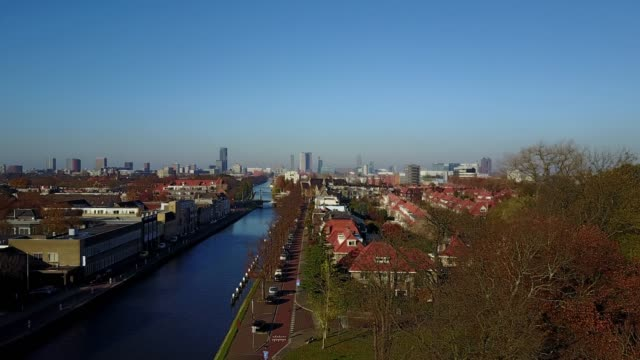 drone point of view of the hague - netherlands - the hague stock videos and b-roll footage
