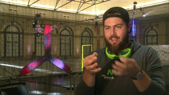 drone racing league final to take place at london's alexandra palace london alexandra palace paul nurkkala interview sot various of men high fiving... - drone pilot stock videos and b-roll footage