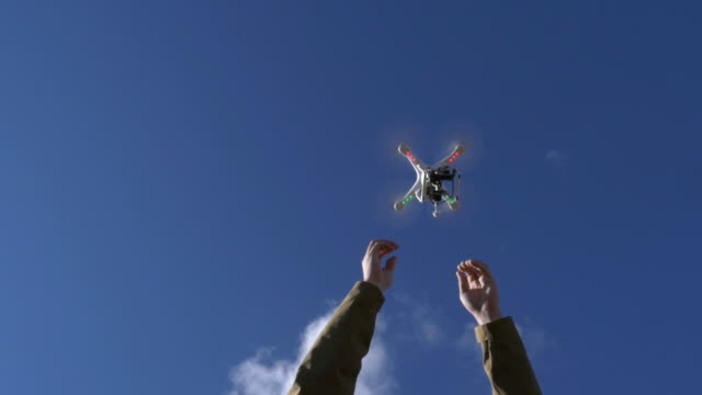 Drone release from below