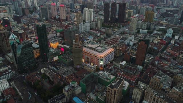 Drone shot: 4K Aerial view of Shanghai skyline