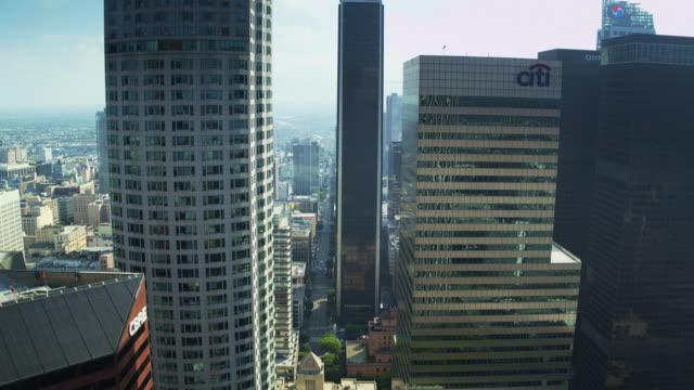 Drone Shot Approaching DTLA Office Towers