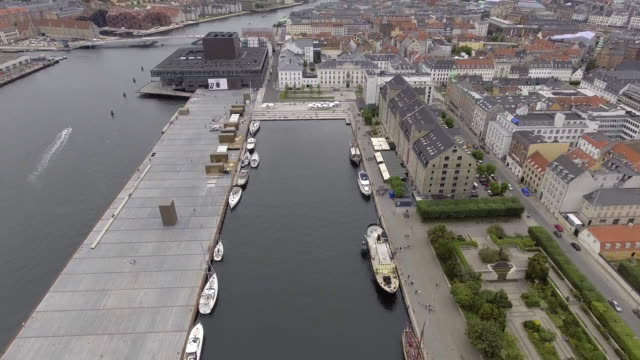 drone shot copenhagen amalienborg palace - stock video - denmark stock videos & royalty-free footage