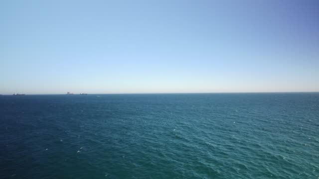 Drone shot flying across the Alboran Sea near Gibraltar.