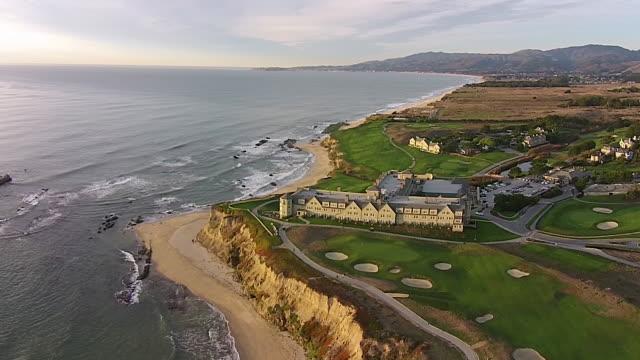 Drone Shot High Reverse: Ritz-Carlton Half Moon Bay