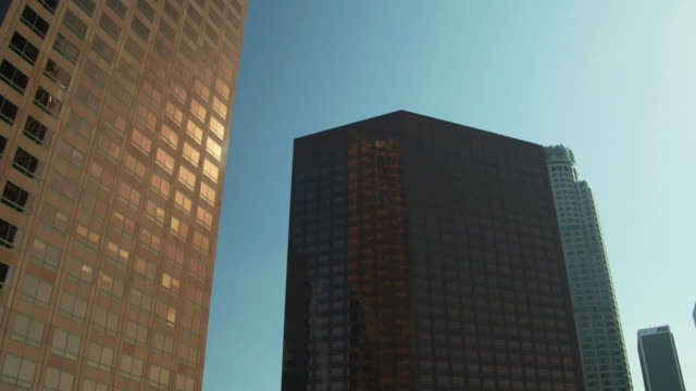 Drone Shot Looking Up at DTLA Skyscrapers
