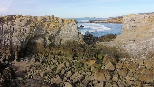 Drone Shot Low to Rise Up: Pescadero SB