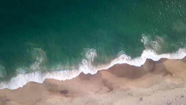 drone shot malibu, ca shore - coastline stock videos & royalty-free footage