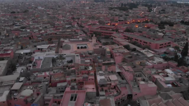 drone shot of a moroccan town - north africa stock videos & royalty-free footage