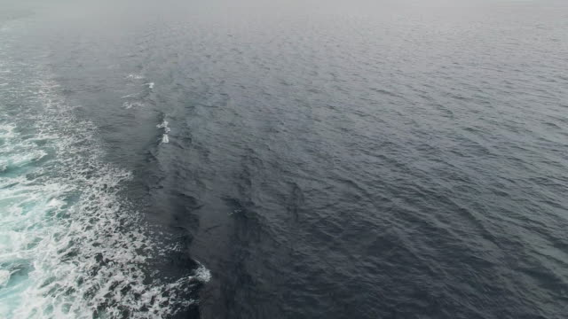 drone shot of an ocean wake - 高み点の映像素材/bロール