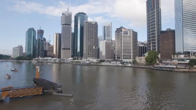 Drone shot of Brisbane Skyline