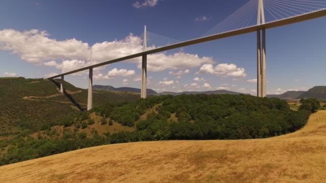 """vidéos et rushes de drone shot of millau viaduct, france - """"bbc universal"""""""