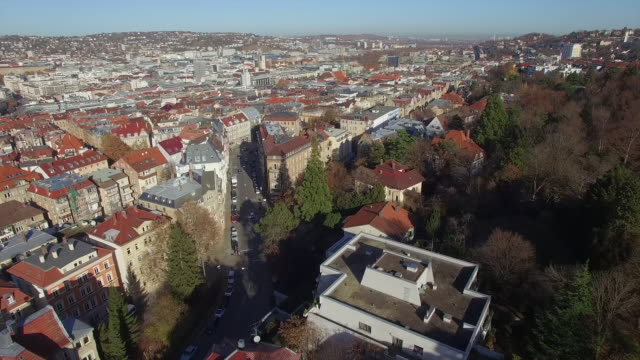 drone shot of residential buildings - バーデン・ビュルテンベルク州点の映像素材/bロール