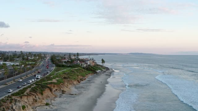 Drone Shot of the Coast of Carlsbad, California