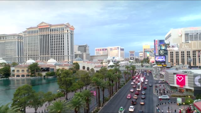 drone shot of the las vegas strip - the strip las vegas stock videos & royalty-free footage