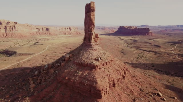 Drone Shot of the Majestic Rock Formations of The Valley of the Gods in Utah