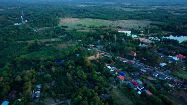 Drone Shot : Road trip Landscape Khao Yai National Park