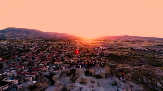 drone shot: traveling in cappadocia, turkey - country geographic area stock videos & royalty-free footage
