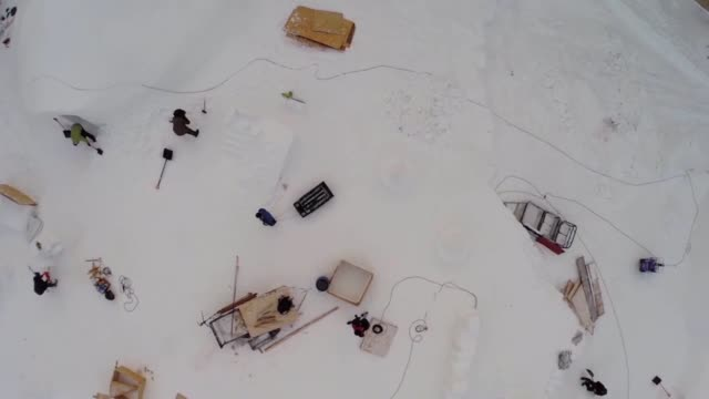 drone shot - igloo stock videos & royalty-free footage