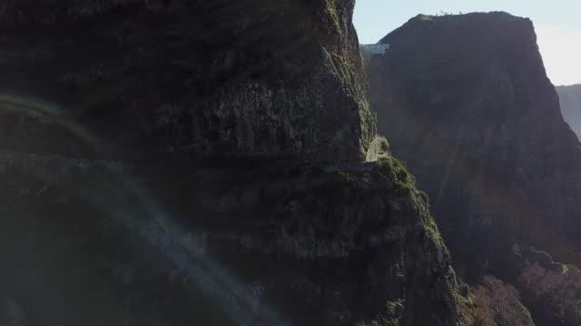 vídeos de stock, filmes e b-roll de drone shots of madeira - ilhas do oceano atlântico