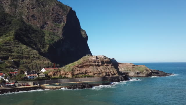 drone shots of madeira - madeira stock videos and b-roll footage