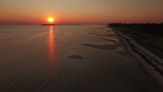 Drone Sunset Lowtide