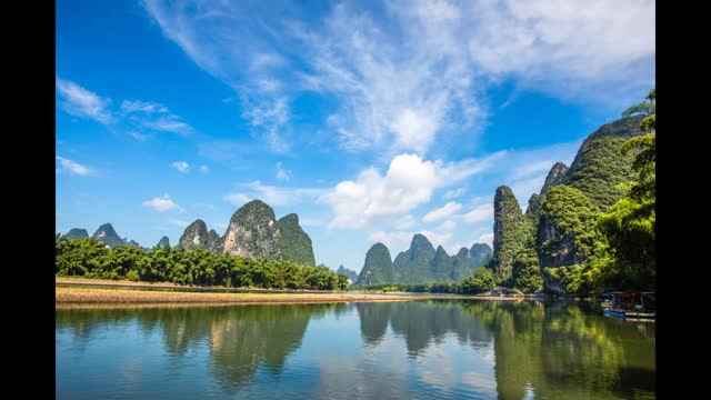 drone time lapse video of xingping landscape which is featured on the 20 rmb chinese yuan note in yangshuo, guangxi province. footage by costfoto /... - yangshuo stock videos & royalty-free footage