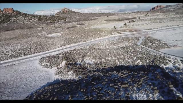 drone video captured fresh snowfall at... - utah stock videos & royalty-free footage