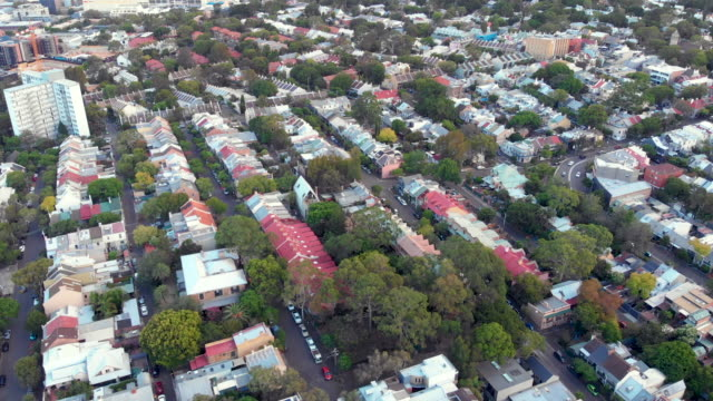 drone video of glebe district in sydney, australia - sydney stock videos & royalty-free footage